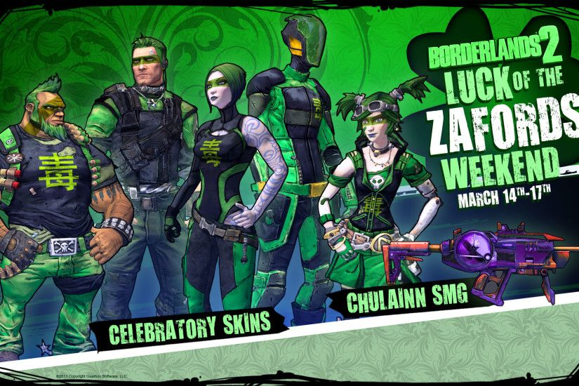 Borderlands 2 Luck of the Zafords Weekend