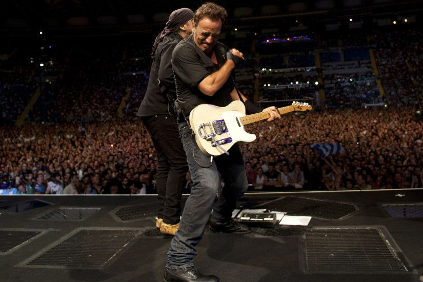Singer, The Boss, Bruce Springsteen, Guitar, Concert, Bruce Springsteen  Guitar Concert