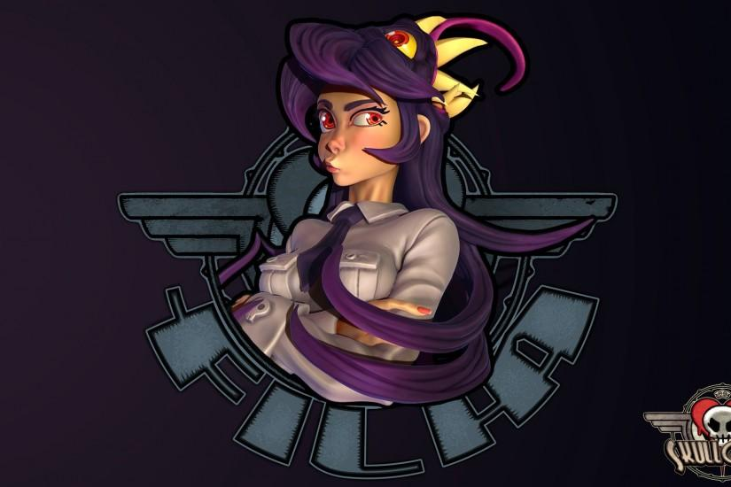... Filia Skullgirls wallpaper by Magna-omega