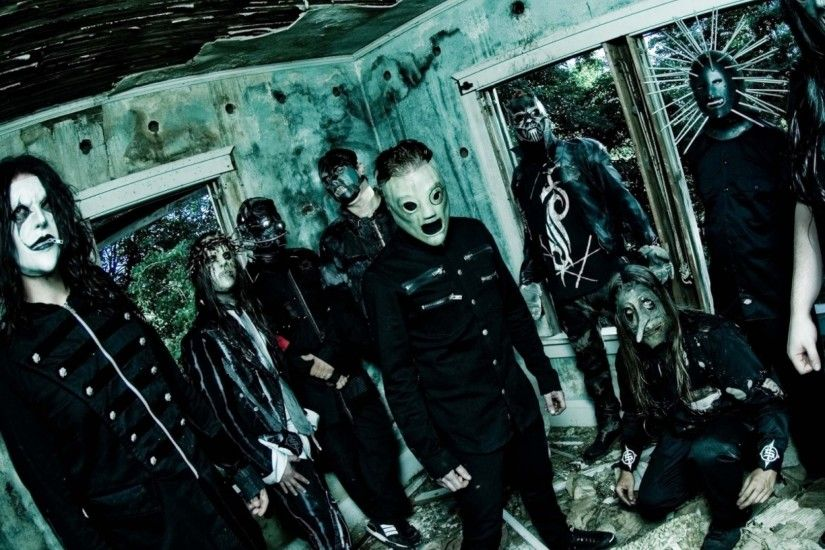 2048x2048 Wallpaper slipknot, band, members, masks, room