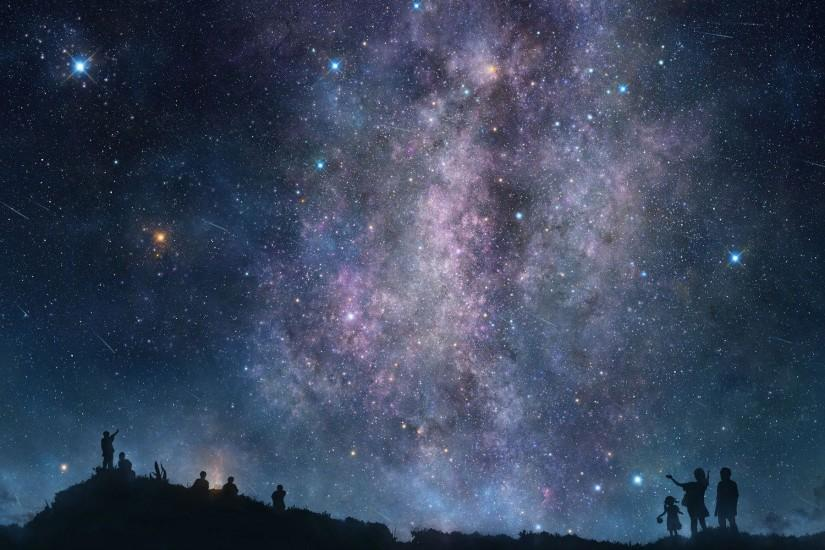 new night sky wallpaper 1920x1200