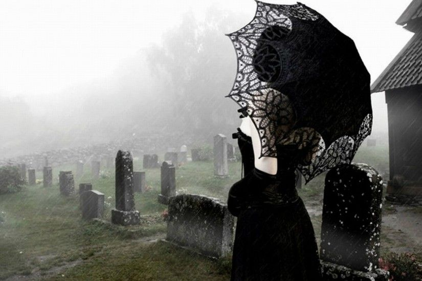 gothic girl graveyard wallpaper
