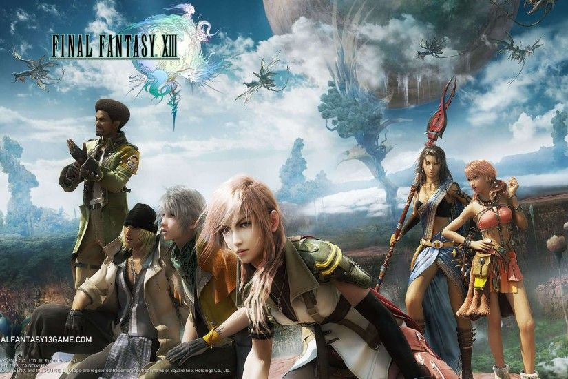 ... final fantasy xiii, characters, sky
