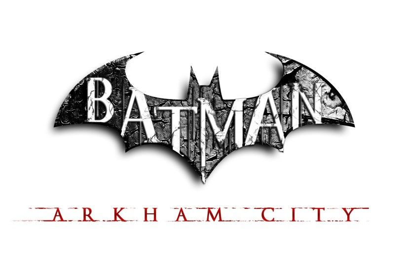 2048x1152 Wallpaper batman arkham city, bat, name, game, graphics, font,