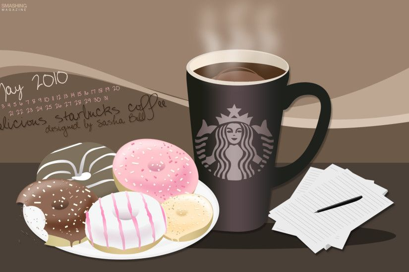 Starbucks coffee and donuts wallpapers and stock photos