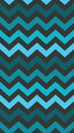 Chevron Dim Blue and Black iPhone 6 Plus Wallpaper - Zigzag Pattern, #iPhone  #