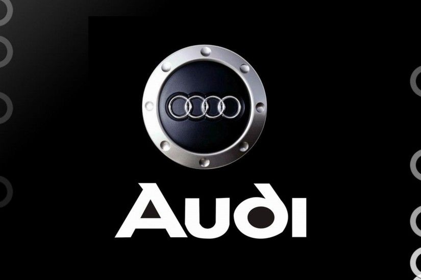 Awesome Audi Logo with black background