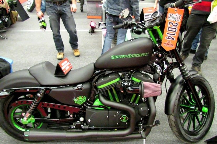 2014 Harley-Davidson Sportster Iron 883 Custom - Walkaround - 2013 Montreal  Motorcycle Show - YouTube