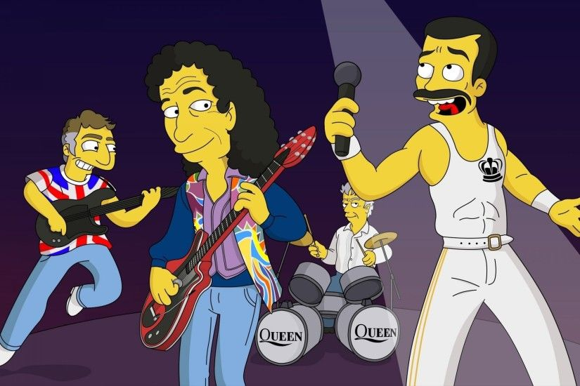 the simpsons freddie mercury the group queen freddie mercury the simpsons
