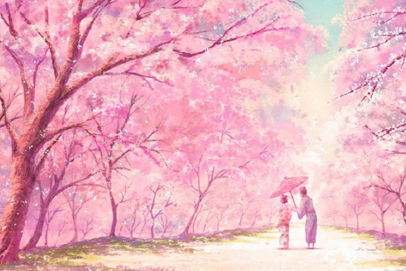 Cute Pink Anime HD desktop wallpaper Widescreen High