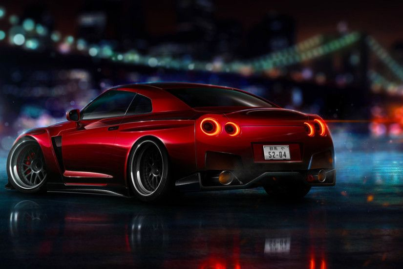1920x1080 Preview wallpaper nissan, gt-r, tuning, movement 1920x1080
