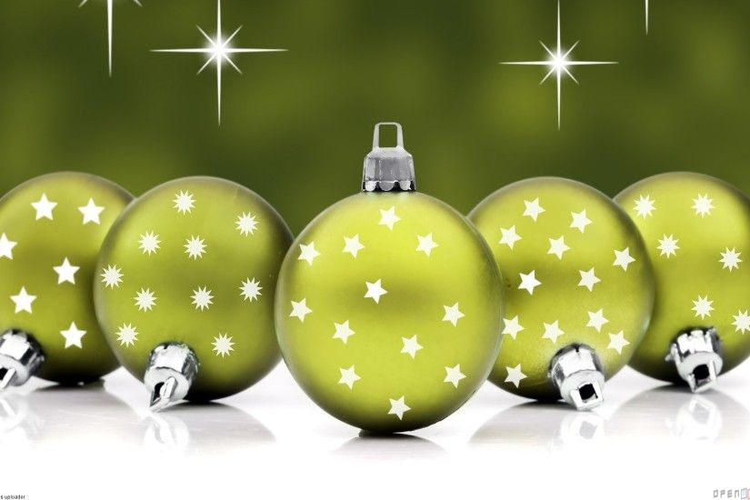 green Christmas balls Wallpaper 6 - 1920 X 1200