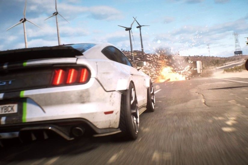 HD Need for Speed Payback Mustang Gt Car Chase Wallpaper