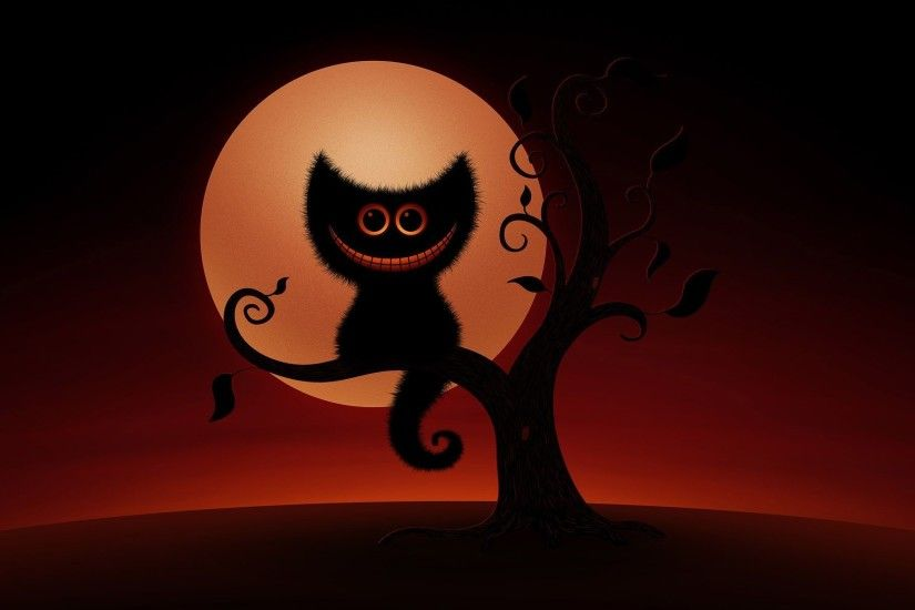Halloween Cat HD Desktop Wallpaper, Background Image