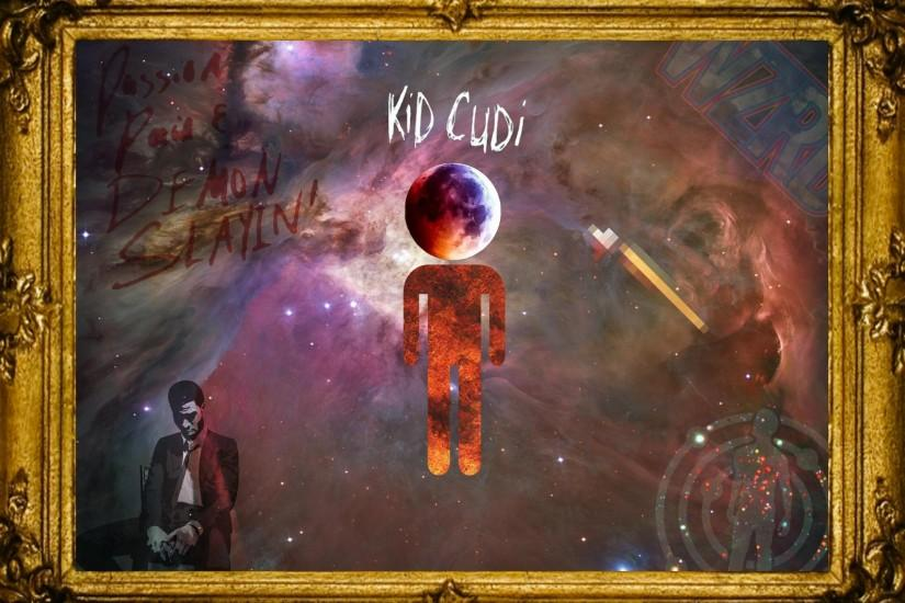 Kid Cudi Wallpaper I threw together. | Includes a good amount of his work.