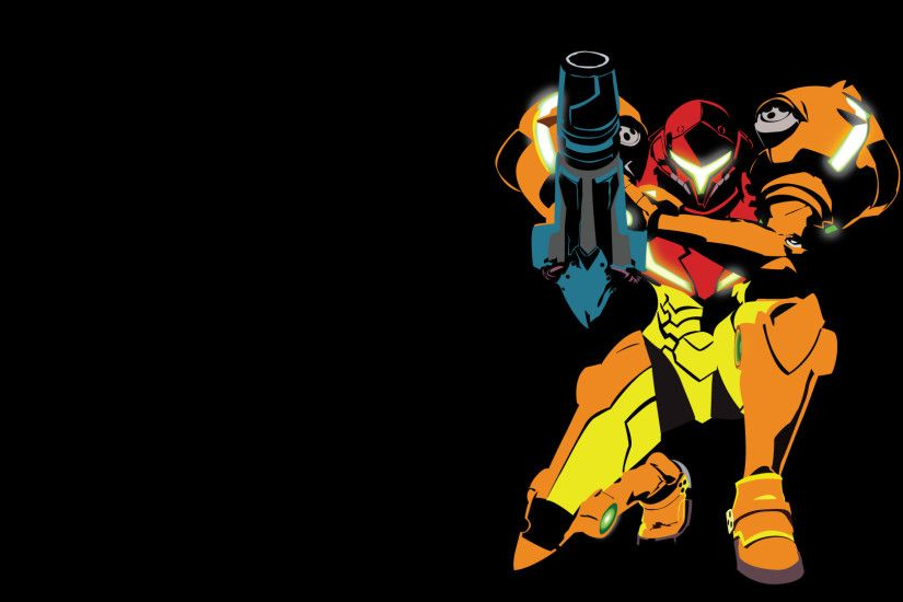 I made a vector/minimalist wallpaper (1920x1080) of Samus in her Metroid 2
