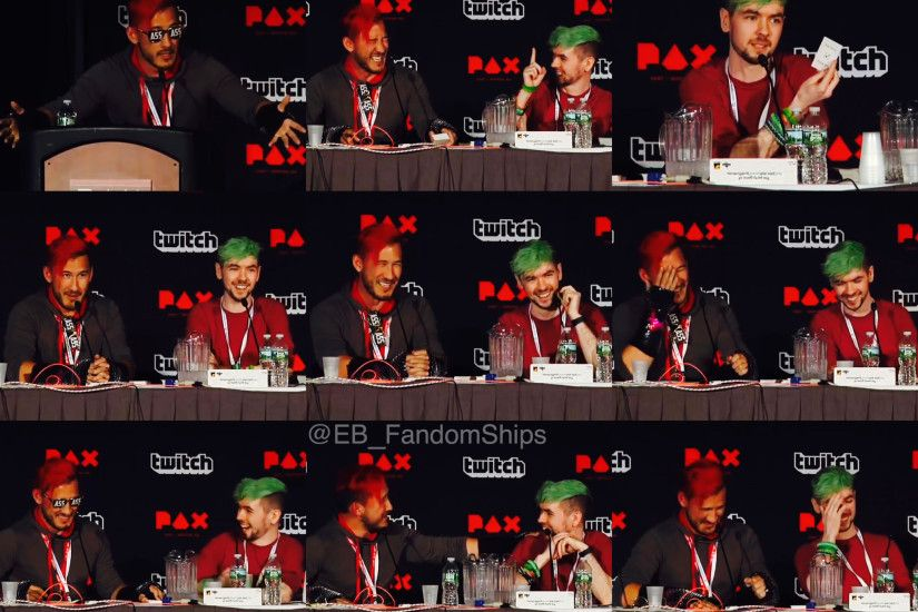 Mark, Sean and Wade at PAX East 2016 'Markiplier and friends' Panel ❤  Markiplier / Mark Edward Fischbach / Jacksepticeye / Septiplier / Sean  McLoughlin ...
