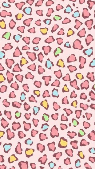 Leopard Wallpaper, Wallpaper Backgrounds, Iphone Wallpapers, Wallpaper S,  Leopard Prints, Kawaii, Phone Backgrounds, Pink Backgrounds, Illustration  Fashion