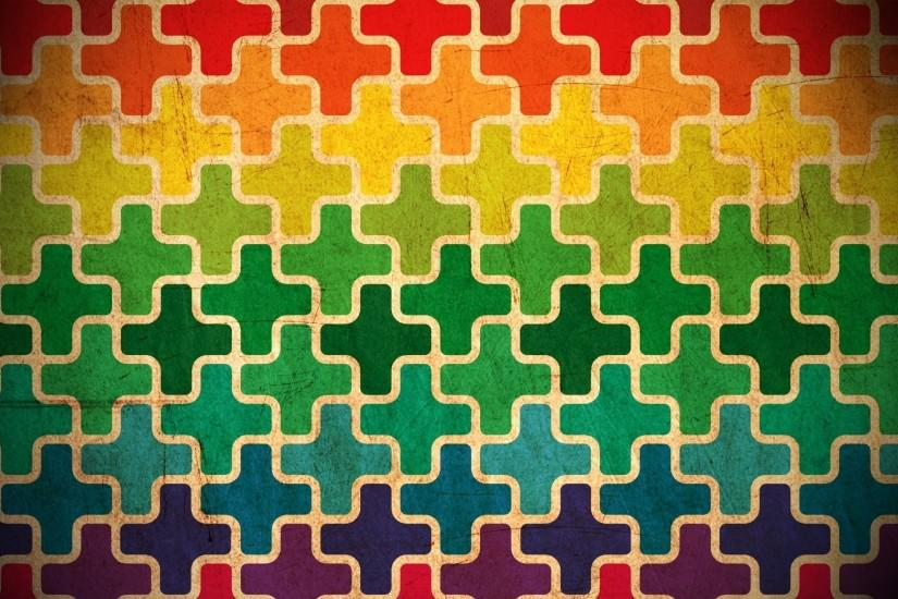 Background from multi-colored crosses