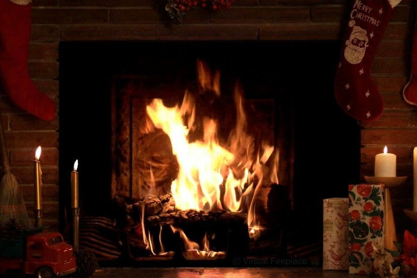 4 Hours Christmas Yule Log Fireplace with Crackling Fire Sounds (HD) -  YouTube