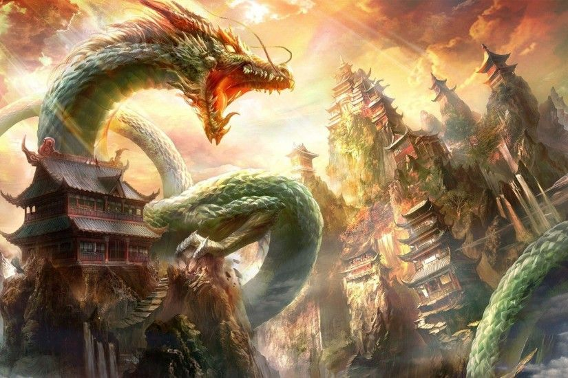 Chinese Dragon Wallpapers - Wallpaper Cave Chinese Dragon Wallpaper -  Wallpapers Browse Slifer the sky ...