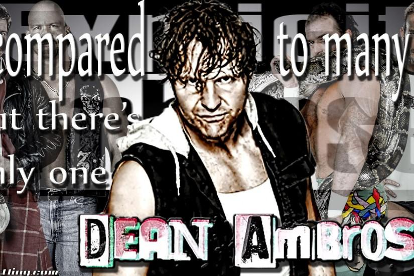 Wallpaper of the Week: One & Only Dean Ambrose Wallpaper | Hittin .