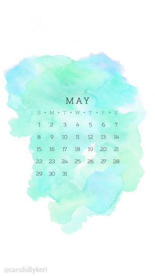 Blue turquoise and green may 2016 calendar wallpaper free download for  iPhone android or desktop background