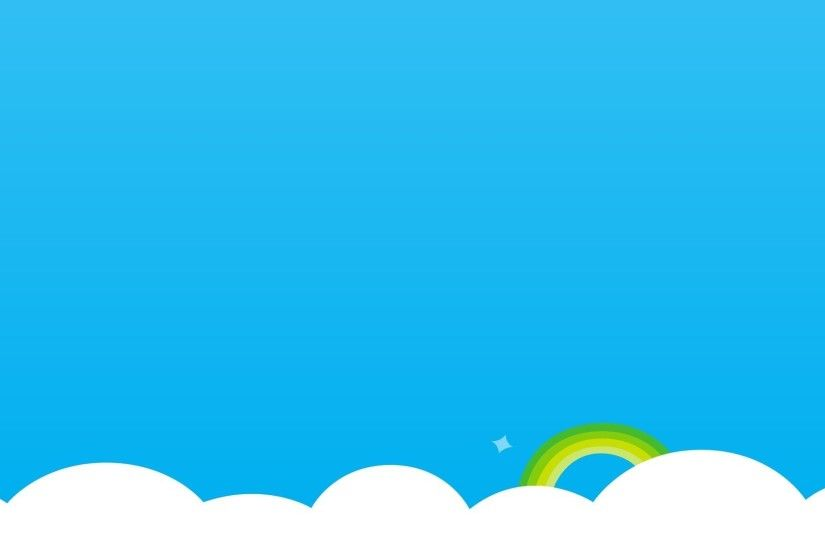 skype skype clouds rainbow simple background