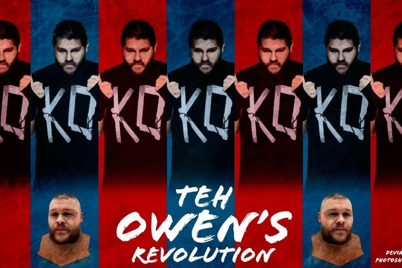I photoshopped a desktop wallpaper for the OWENS revolution!!! I just love  how color coded the whole thing looks. Hope ya'll enjoy also follow Kevin  Owens ...