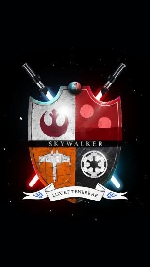 Star Wars Family Crest Skywalker Light And Darkness iPhone 6+ HD Wallpaper
