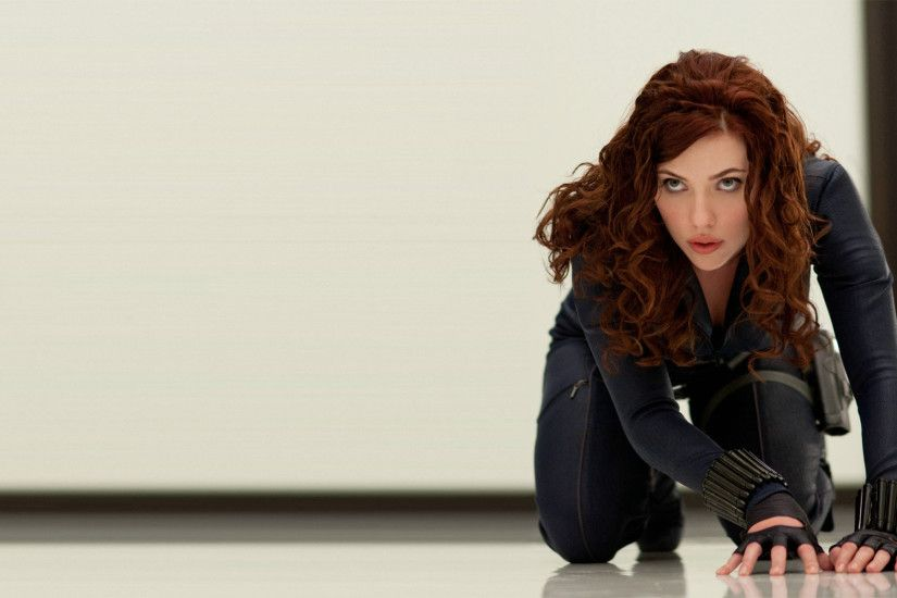 Scarlett Johansson as Black Widow in Iron Man 2 Movie wallpaper