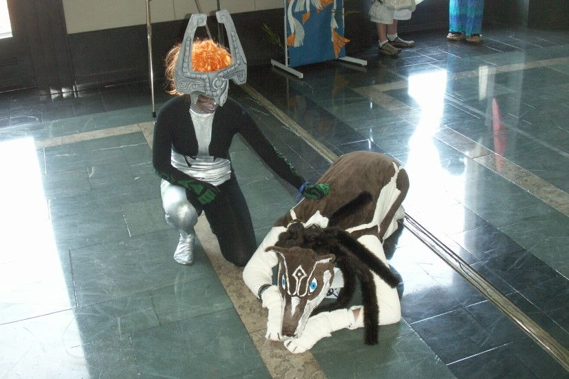 ... Midna and Wolf Link Anime Boston 2007 by TrueChimaera