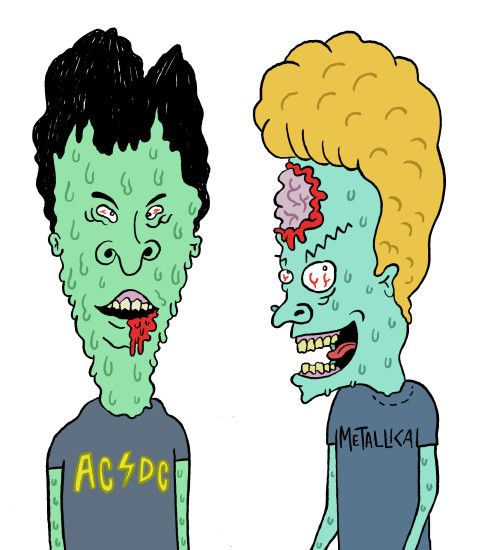 Zombie Beavis and Butthead