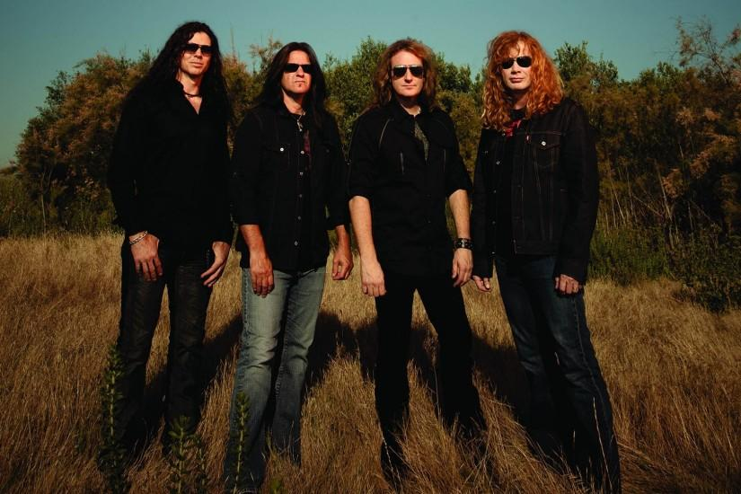 Preview wallpaper megadeth, band, sunlight, glasses, shadow 1920x1080