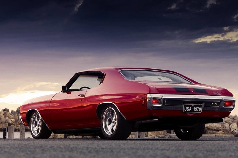 Wallpapers chevrolet chevelle ss, chevrolet, muscle car - car .