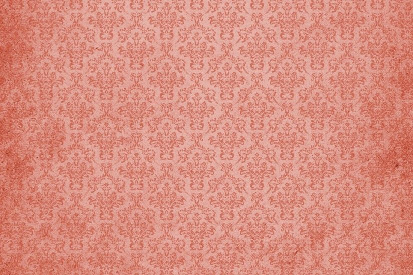 Damask Vintage Background Red