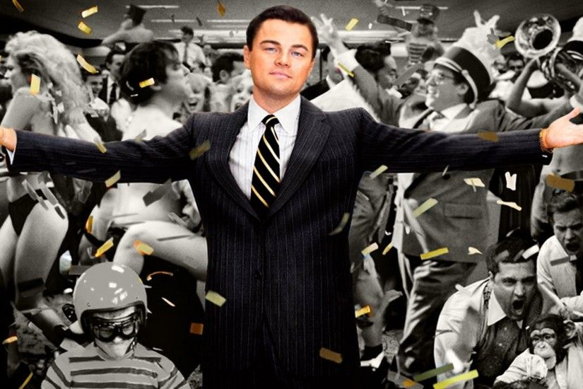 Movie - The Wolf of Wall Street Leonardo Dicaprio Wallpaper
