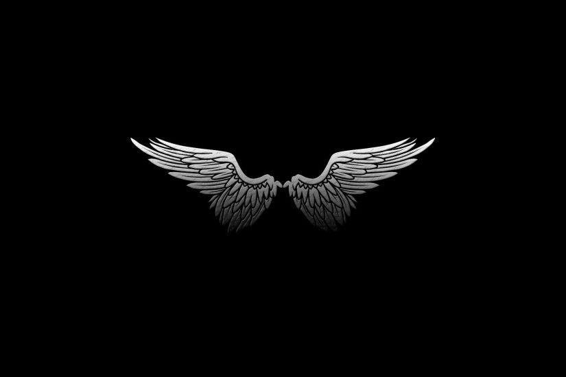 Black White Wings Wallpaper