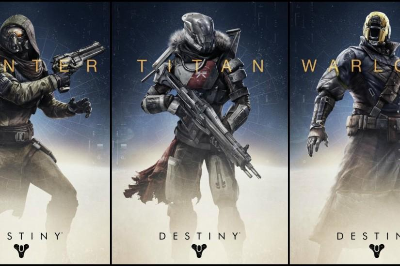 Hunter-Titan-and-Warlock-on-Destiny-Game-2014-