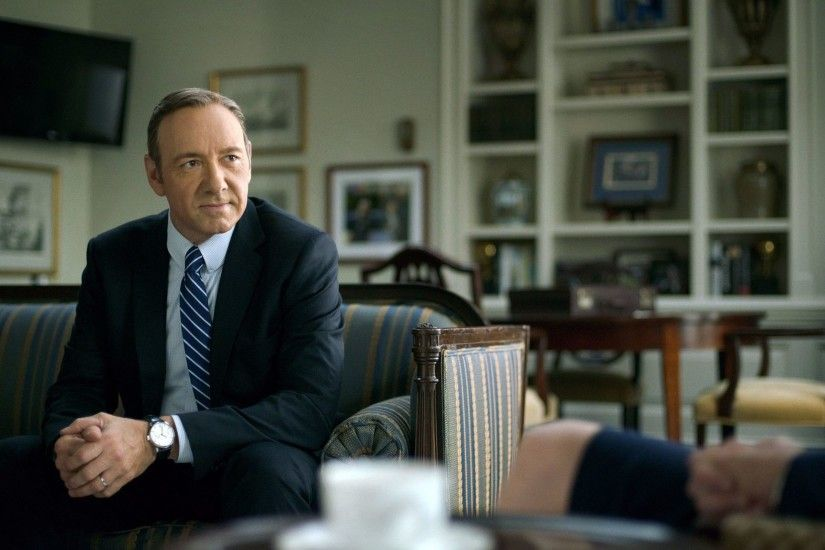 "Kevin Spacey in a scene from ""House of Cards,"" which will end its"