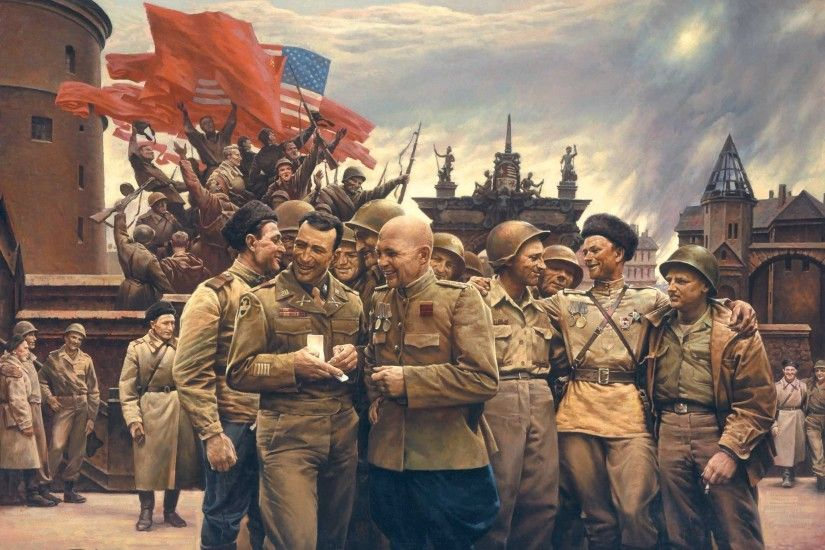 World War II, USA, USSR, Army, Soldier Wallpapers HD / Desktop and Mobile  Backgrounds