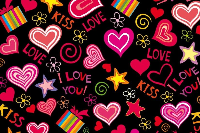 Love words and nice hearts love wallpapers