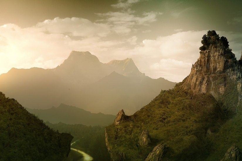 ... Free Lord Of The Rings Landscape Wallpaper Background Â« Long .