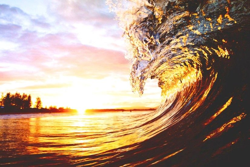 Download: Sunset Wave HD Wallpaper