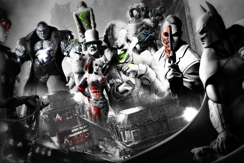 Batman, Joker, Video Games, Batman: Arkham City, Rocksteady Studios, Robin  (character), Catwoman, Mr. Freeze, The Riddler, Two Face Wallpapers HD /  Desktop ...