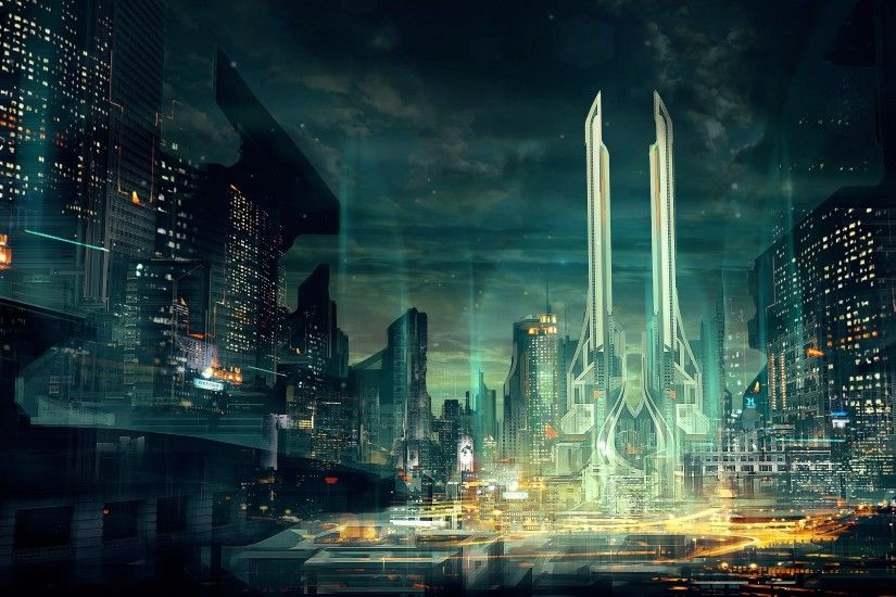 HD Wallpaper | Background ID:564460. 3800x2138 Sci Fi City