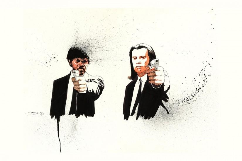 Pulp Fiction, Fan Art, Quentin Tarantino, Movies, Samuel L. Jackson  Wallpaper HD