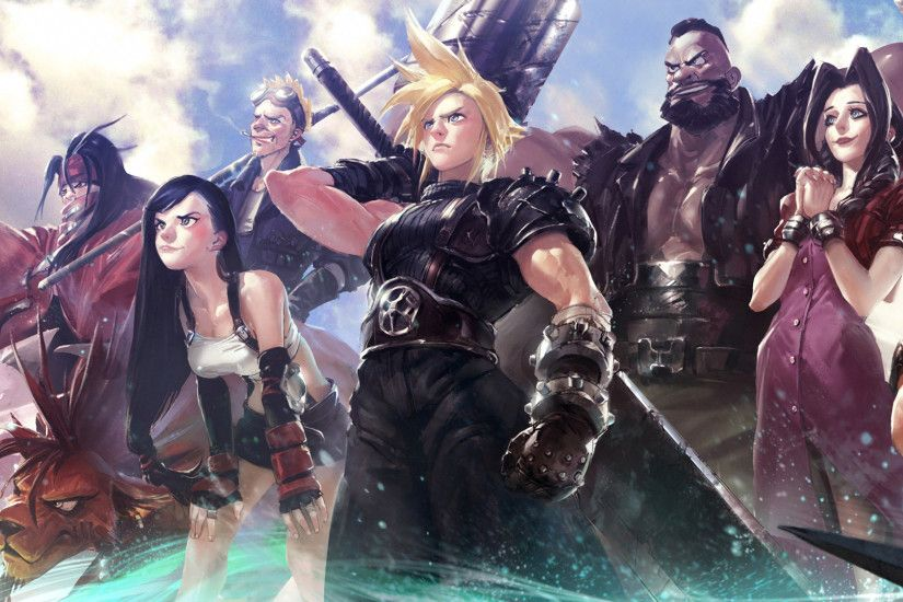 Video Game - Final Fantasy VII Cloud Strife Tifa Lockhart Barret Wallace  Aerith Gainsborough Yuffie Kisaragi