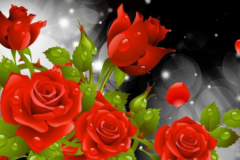 A Red Rose For You Wallpaper Flowers Nature Wallpapers) – HD Wallpapers