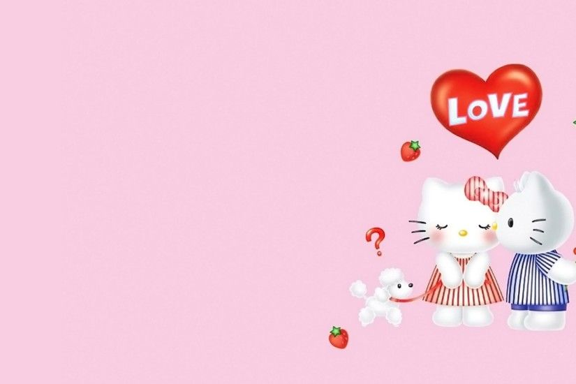 "1920x1200 Hello Kitty Pink And Black Love Wallpaper High Quality » Extra  ..."">"